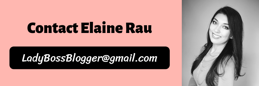contact elaine rau founder of ladybossblogger