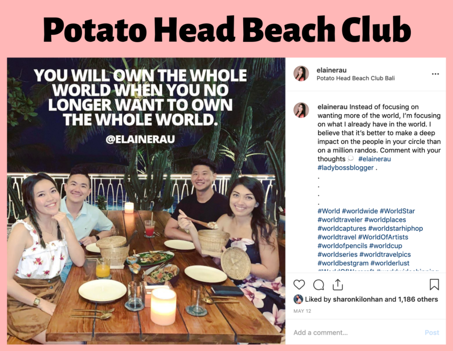 potato head beach club bali influencer elaine rau ladybossblogger